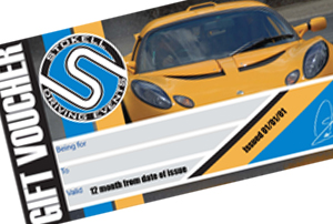 Driving Event Gift certificate